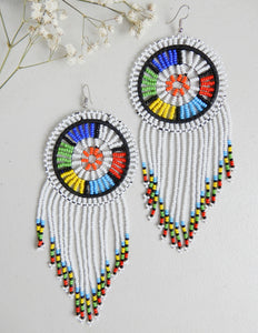 Classy White Earrings