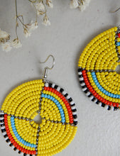 Load image into Gallery viewer, Round Beaded Earrings