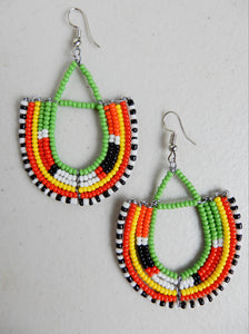 Half Loop Drop Earrings