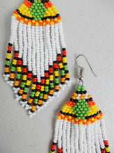 Load image into Gallery viewer, White Beaded Earrings