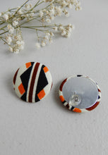 Load image into Gallery viewer, African Fabric Stud Earrings