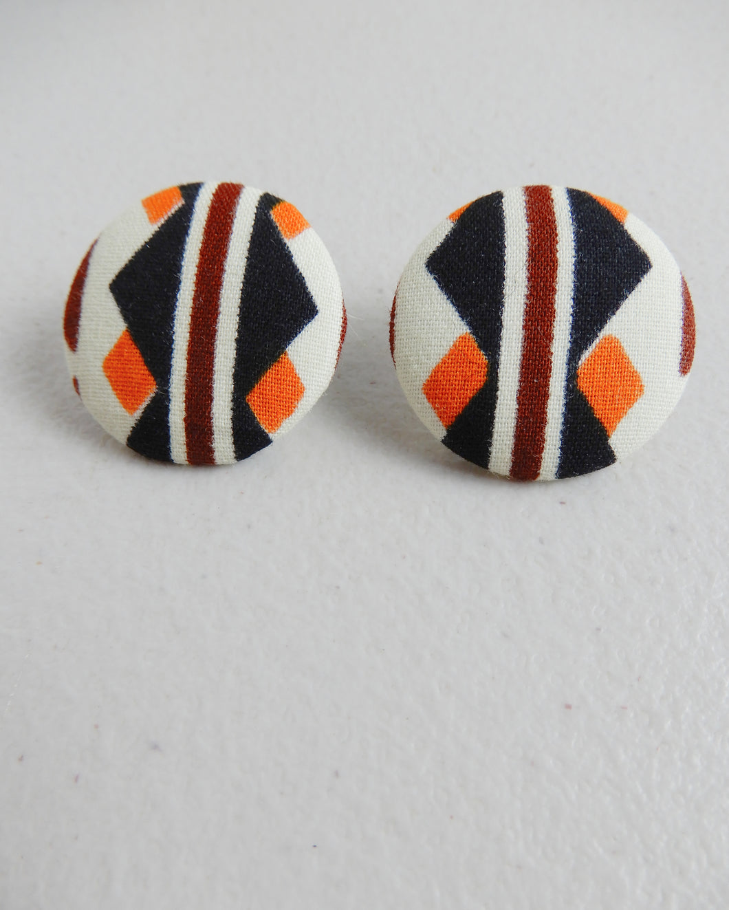 African Fabric Stud Earrings