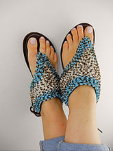 Load image into Gallery viewer, Blue African sandals