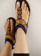 Load image into Gallery viewer, Navy Leather Sandals