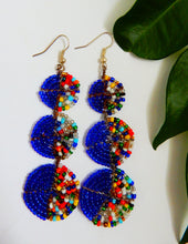 Load image into Gallery viewer, african beaded dangle earrings