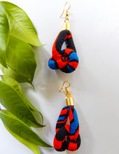 Load image into Gallery viewer, African Fabric Knot Earrings