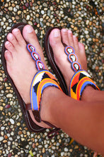 Load image into Gallery viewer, Aztec African Sandals