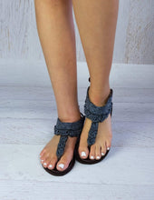 Load image into Gallery viewer, Afrix Style 37 (Size 6) / Black Summer Sandals