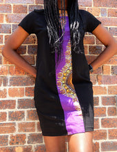 Load image into Gallery viewer, Afrix Style Dress Medium Purple african fabric Dress | Afrix Style