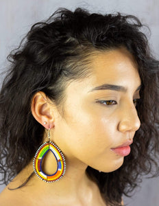 Afrix Style earrings Large Rainbow African Earrings