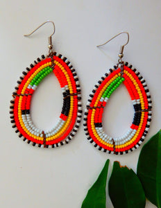 Afrix Style earrings Rainbow African Earrings