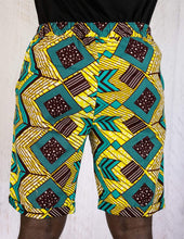 Load image into Gallery viewer, Afrix Style Mens African Fabric Shorts