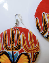 Load image into Gallery viewer, Afrix Style Red Fabric Earrings