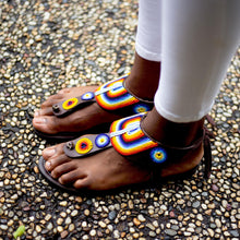 Load image into Gallery viewer, Afrix Style Sandals Rainbow Coloured Sandals