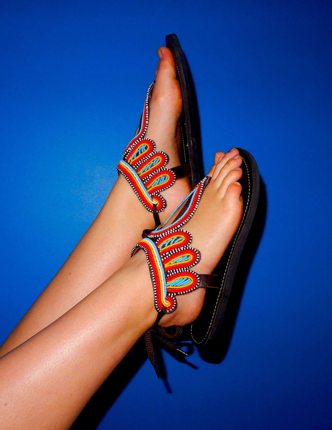 Afrix Style Shoes 38 (Size 7) Winged African Sandals