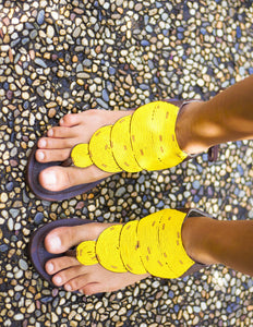 Afrix Style Shoes 38 (size 7) Yellow Summer Sandals