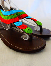 Load image into Gallery viewer, Afrix Style Shoes 40 (Size 9) Tropical African Sandals