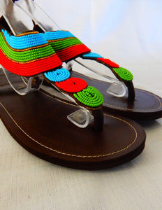 Afrix Style Shoes 40 (Size 9) Tropical African Sandals