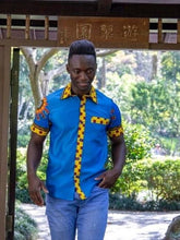 Load image into Gallery viewer, Afrix Style Small Short Sleeve African Men's Shirt