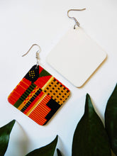 Load image into Gallery viewer, Afrix Style Square African Earrings