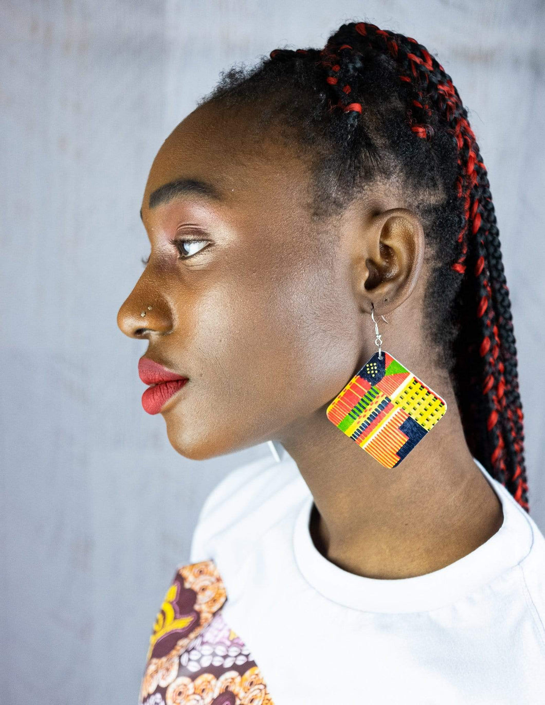 Afrix Style Square African Earrings