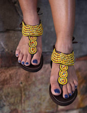 Load image into Gallery viewer, Afrix Style Sunny Yellow Sandal