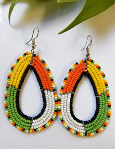 Afrix Style Tropical Beaded Earrings