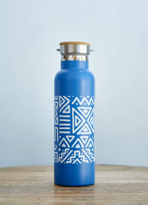 Afrix Style Waterbottle Fritribal Blue 600ml Frilete Active Water Bottles