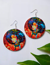 Load image into Gallery viewer, Afrix Style Women Afro Colourful Earrings