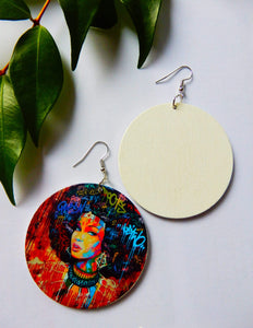 Afrix Style Women Afro Colourful Earrings