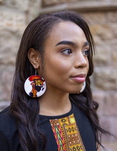 Afrix Style Wooden African Earrings