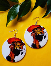 Load image into Gallery viewer, Afrix Style Wooden African Earrings
