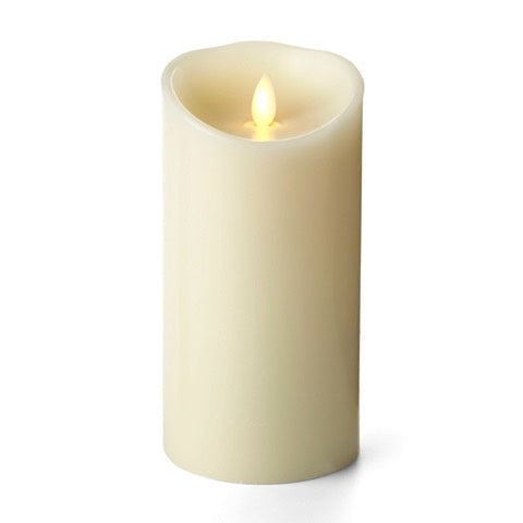 "3.5"" x 7"" Luminara® Flameless Candle - Ivory Wax Unscented Classic Pillar"
