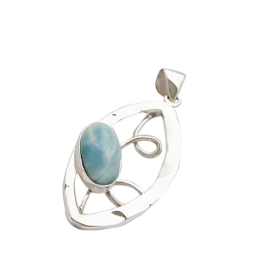 Sterling Silver Larimar Pendant on Sterling Silver Chain 118146
