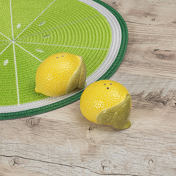 "Set of Two, 2.5"" Lemon Salt and Pepper Shakers"