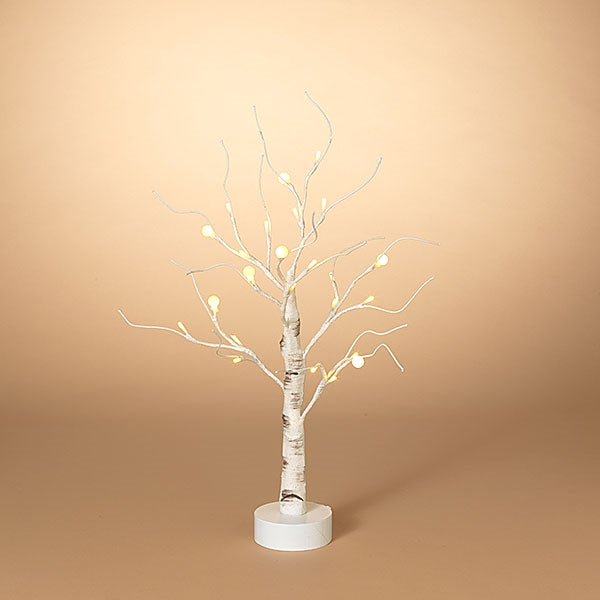 "23.6""H Battery Operated Birch Tree With LED Lights and Tiny White Bulbs - Buy Two Special Pricing"