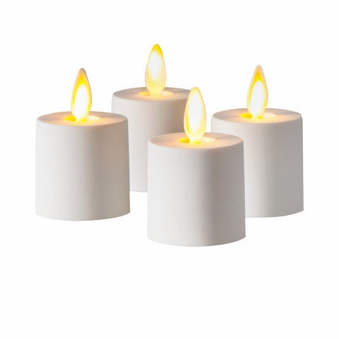 Luminara® Flameless Battery Operated Tea Lights - 1.44 x 1.25 inches - 4 pieces