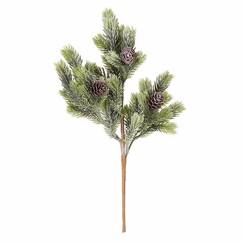 Pine Pick with Natural Pine Cones : 4 x 14 inches, Permanent Botanicals - Quantity of 3