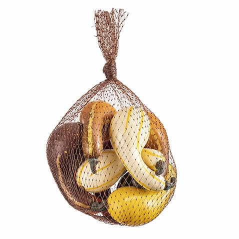 "3.25"" Mini Gourds in Mesh Bag in 5 Colors - Packed in Quantity of 9"