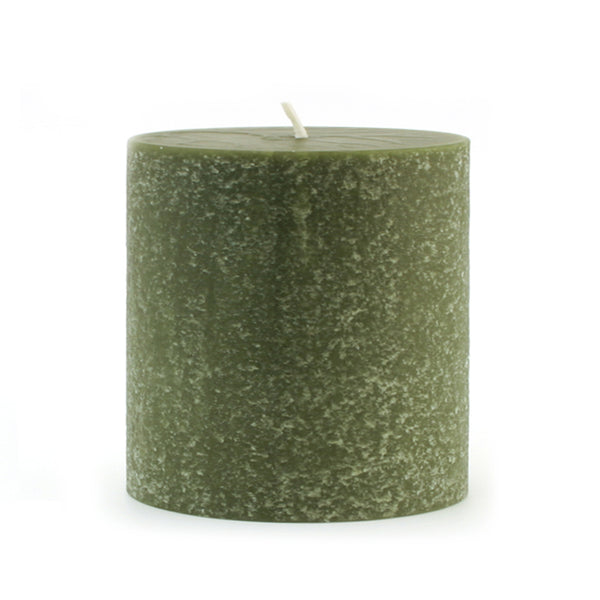Root Timberline Pillar Candle -  3 X 3  Dark Olive - Root Candles Made in America