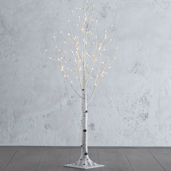 3.5 Ft. Lighted Birch Tree with 96 Warm White LED Lights