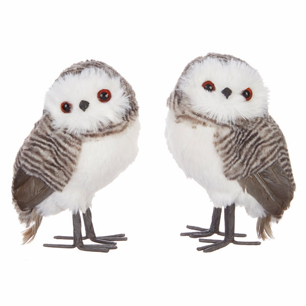 "Your Choice, 6""H Brown and White Owl, Choose Left or Right View"