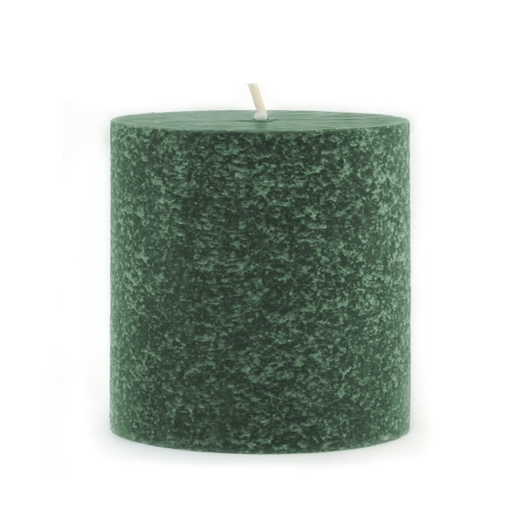 Root Timberline Pillar Candle -  3 X 3 Dark Green - Root Candles Made in America