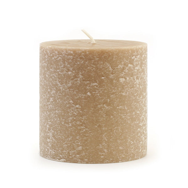 Root Timberline Pillar Candle -  3 X 3 Taupe - Root Candles Made in America