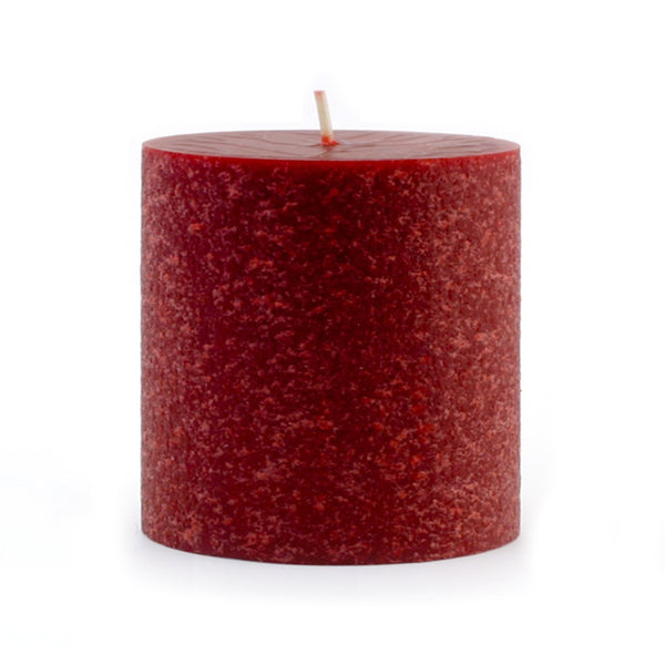 Root Timberline Pillar Candle -  3 X 3 Garnet - Root Candles Made in America