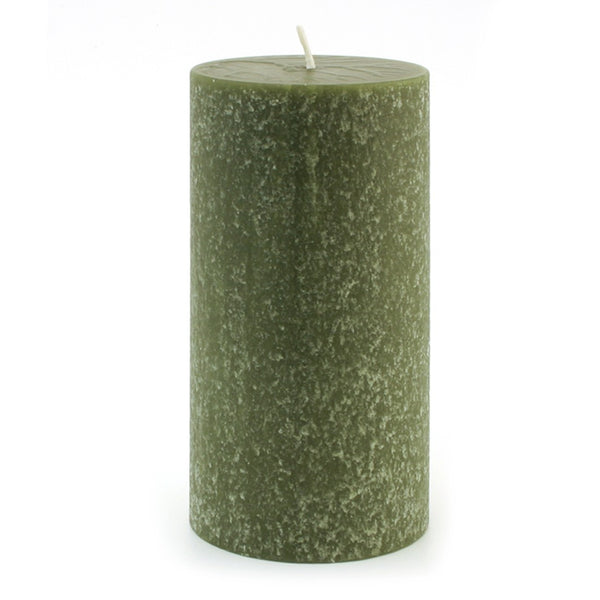 Root Timberline Pillar Candle -  3 X 6  Dark Olive - Root Candles Made in America