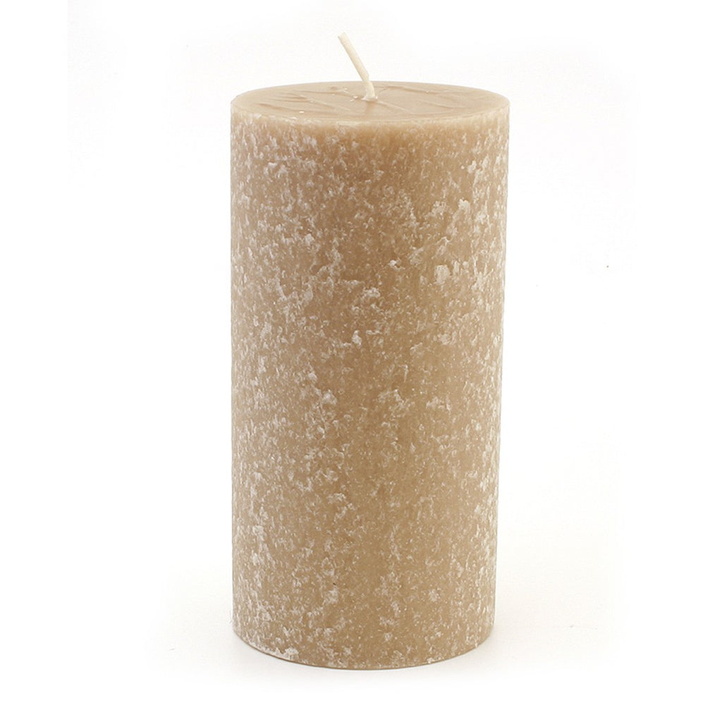 Root Timberline Pillar Candle -  3 X 6 Taupe - Root Candles Made in America