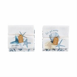 Your Choice, Set of Two, Waffle Weave cotton Dish Towel Set