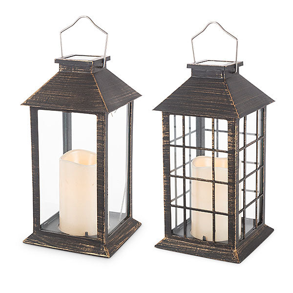 "Your Choice, 11""H Solar Lantern with LED Candle"