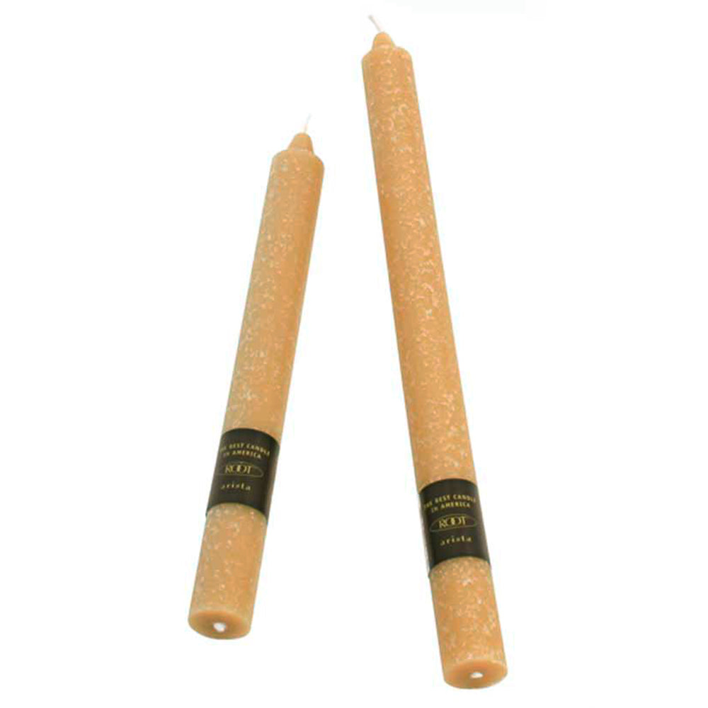 Set of 2 - 9 Inch Root Timberline Arista Dinner Candle - Beeswax